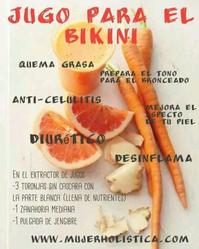 Jugo quema grasa.....3 toronjas con la parte blanca, 1 zanahoria mediana y un trozo de gengibre todo esto en un extractor. http://juicerblendercenter.com/how-juicing-fruits-and-veggies-can-enhance-your-life-and-health-goals/