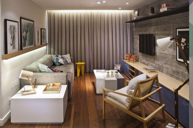 Projeto urbano e cool idealizado pelo escritório PKB Arquitetura para um jovem casal - Studio It Decor – Design de interiores