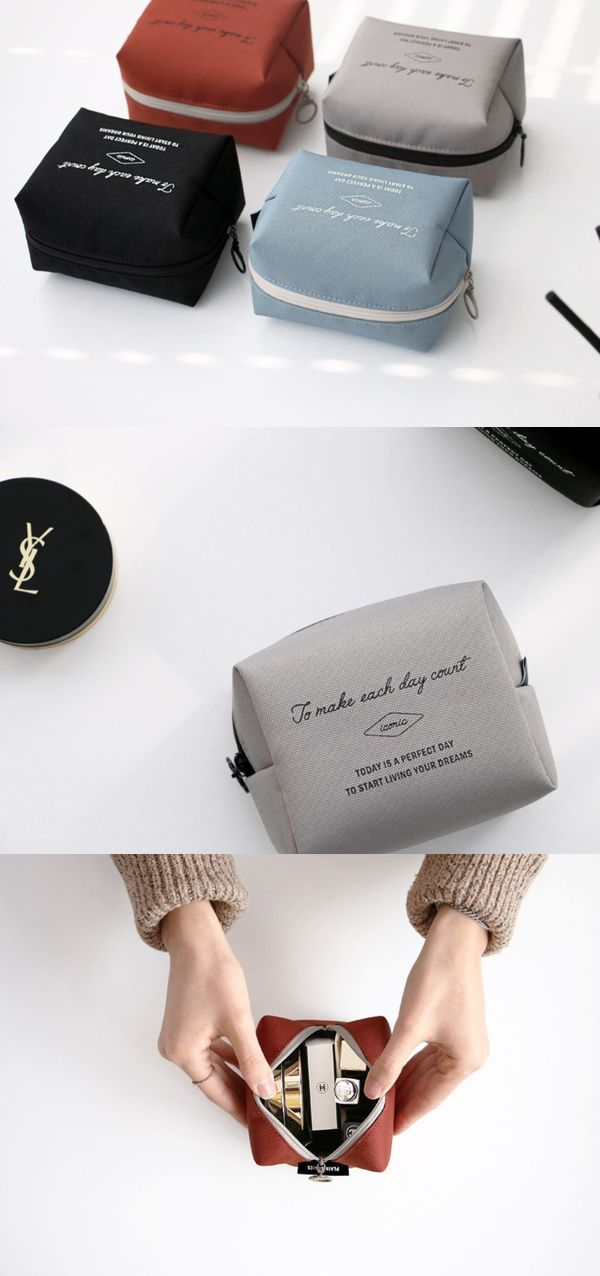The Small Plain Cosmetic Pouch is a good pouch for carrying essential daily cosmetic items that you would like to carry. With the pockets inside, you can organize lipsticks and compact powder conveniently! The pouch is lightly padded and will protect the items inside from being damaged.