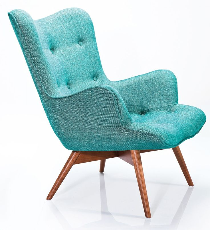 Fauteuil angels wings rhythm groen is een elegante retro - Fauteuil turquoise contemporain ...