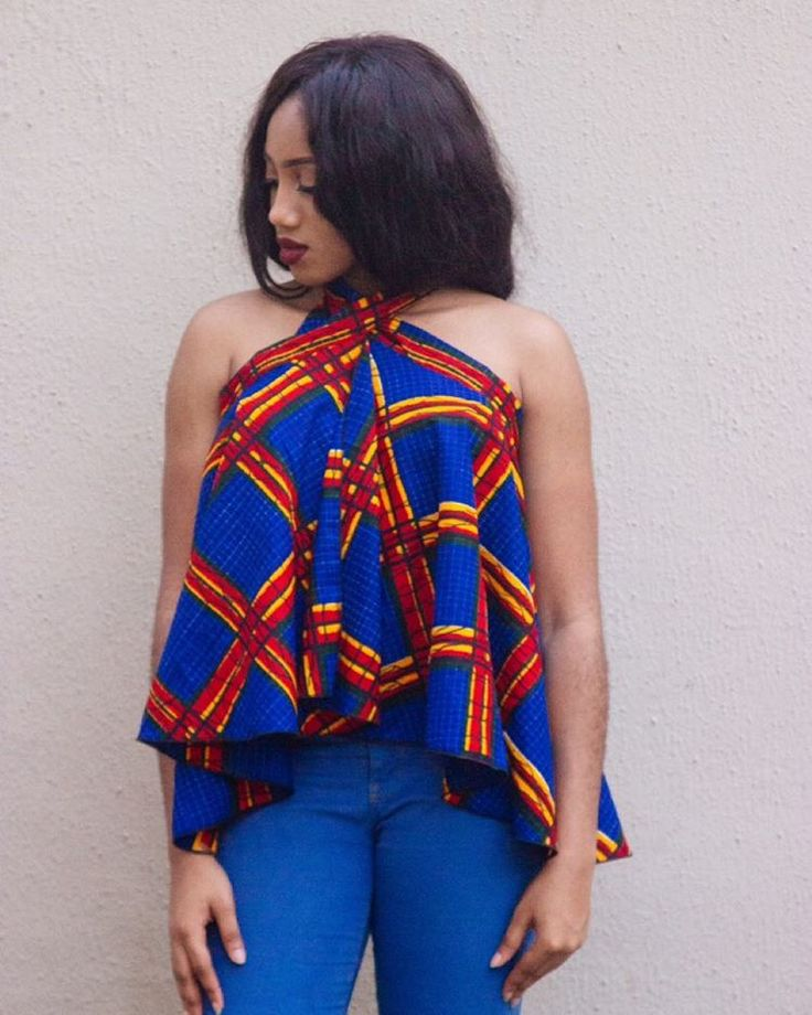 The TEE wrap skirt as a top ~African fashion, Ankara, kitenge, African women dresses, African prints, Braids, Nigerian wedding, Ghanaian fashion, African wedding ~DKK