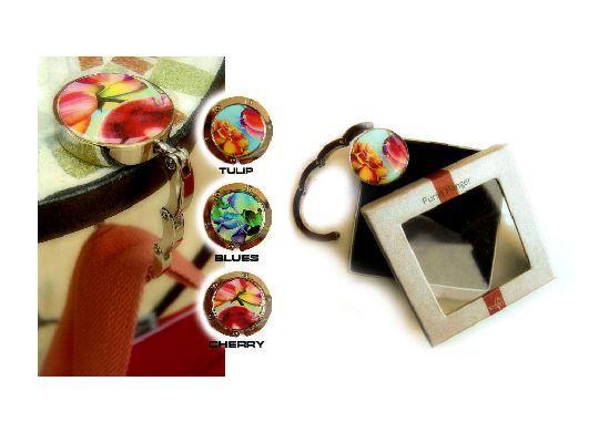 Trendy & colorful summer gadgets! Purse hanger 'Cherry' | FLORIFIQUE