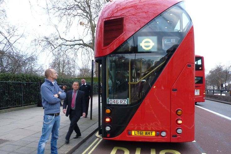 London's new bus is on the road today  - route 38. Testing before the official launch on Monday 27th Feb, 2012.