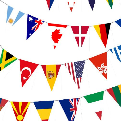 Instant Download  World Flag Banner by KatesPointOfView on Etsy, $5.00