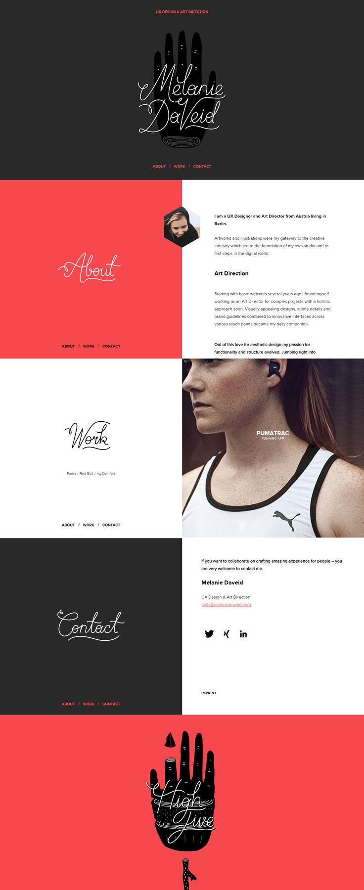 Melanie Daveid Portfolio, UX Design and Art Direction #portfolio #webdesign #website