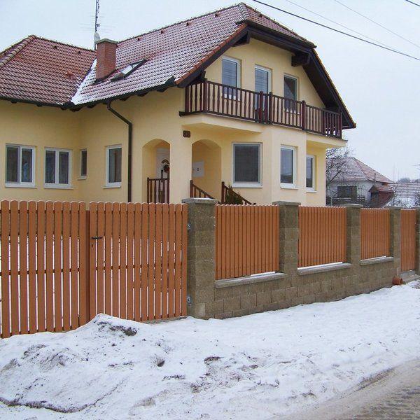 Dřevěný plot - realizace Mělník