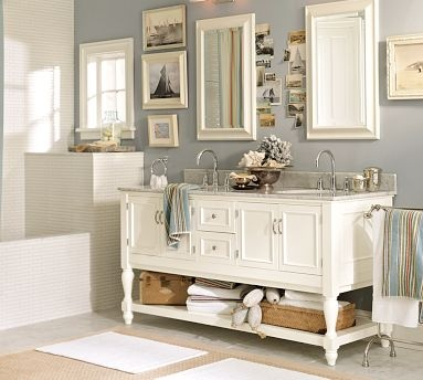 Pottery Barn Home Pinterest Double Sinks Vanities And Cabinets