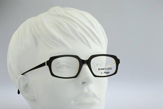 Romeo Gigli RG 79 Vintage rectangle eyeglasses 90s mens &
