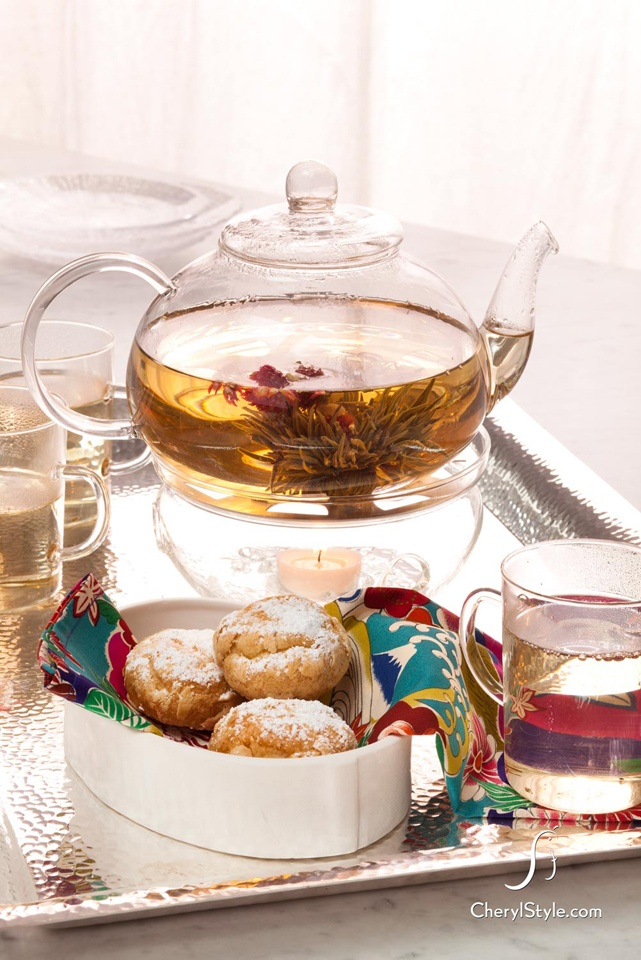 add a fabulously floral touch to any tea party with this beautiful blooming tea.: Beautiful Casual, Beautiful Bloom, Creative Crafts, Afternoon Teas, High Teas, Parties Ideas, Casual Teas, Teas Parties, Bloom Teas