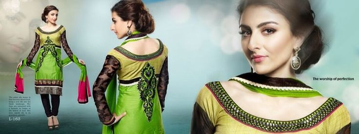 Nawab Suit, Glace base with dupatta