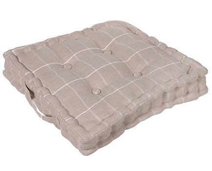Buttoned Check Seat Cushion available from Browsers furniture Co., Limerick, Ireland https://browsers.ie/products/cream-seat-cushion