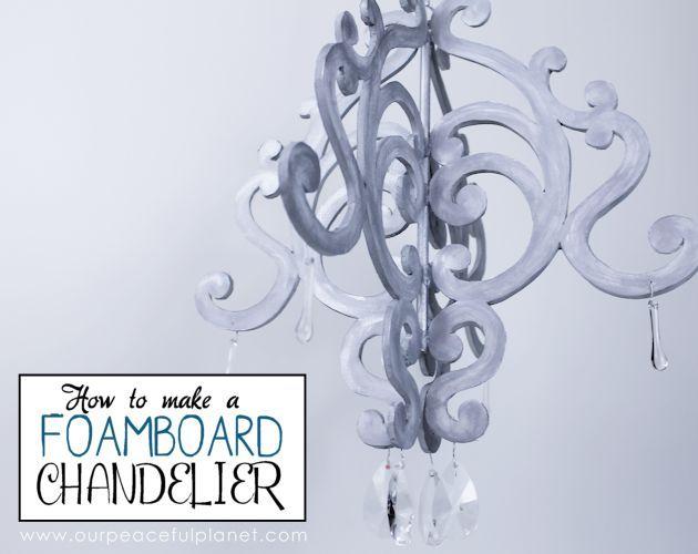 Foam Board Chandelier