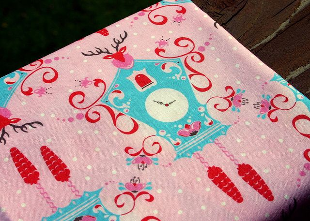 Cuckoo Clock fabric! by twinfibers, via Flickr