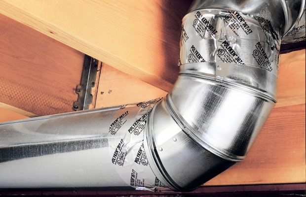 Sealing HVAC Ducts - The ductwork of a home can lose up to15% of it's airflow through duct seams. Eliminate valuable airflow loss by sealing duct seams.