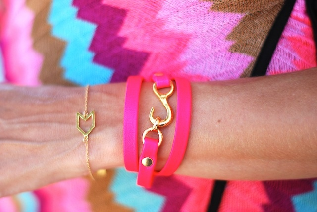 bauble bar x gorjana: Baubles Bar, Arm Candy, Wraps Bracelets, Fashion Clothing, Color, Hot Pink, Accessories, Neon Pink, Pink Chevron