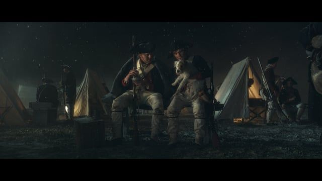 To show how dogs bring out the good in us, we created a film about the true story of the American Continental Army finding their enemy's lost dog wandering through their camp during the Revolutionary War. Rather than using it exact revenge, American General Washington decides to return the dog to its owner, and his sworn enemy, British General William Howe.