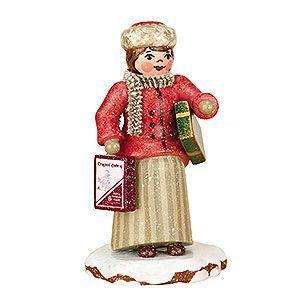 Winterkinder Weihnachtseinkäufe (7,5cm) von Hubrig Volkskunst