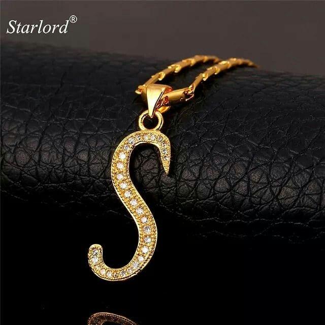 Alphabest Letter Pendant Necklace Letter Pendants Alphabet Gold Jewelry Necklaces Lettering