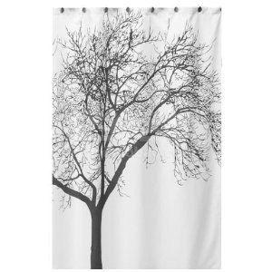 dozenegg cortina de ducha impermeable con diseño del árbol d
