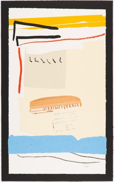 Robert Motherwell, 'America - La France Variations III,' 1984, Paul Kasmin Gallery