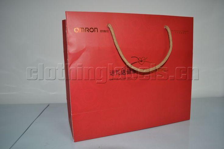 Пользовательские подарочные бумажные пакеты, упаковка мешок с матовым покрытием, бумага с покрытием.