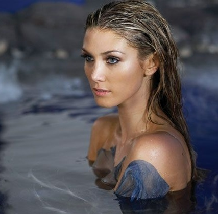 Delta Goodrem - how can you look this good while soaked to the core ?