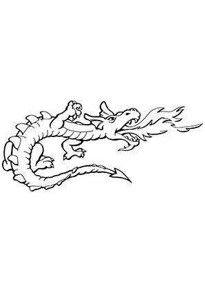 ausmalbild drache speiht feuer zum kostenlosen ausdrucken und ausmalen. ausmalbilder  