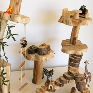 This is lovely. Small world/Make a play tree house for dramatic play area