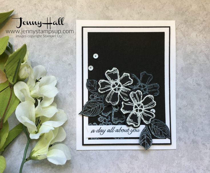 Stamping on black can create great results. It creates a striking image that you can use in your design. Let's see how to create this look.