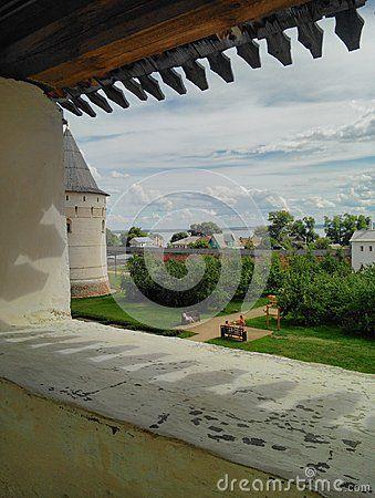 This view inside of Kremlin Rostov