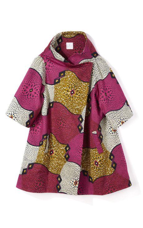 Crater-Print Wax Cotton Coat by Stella Jean for Preorder on Moda Operandi