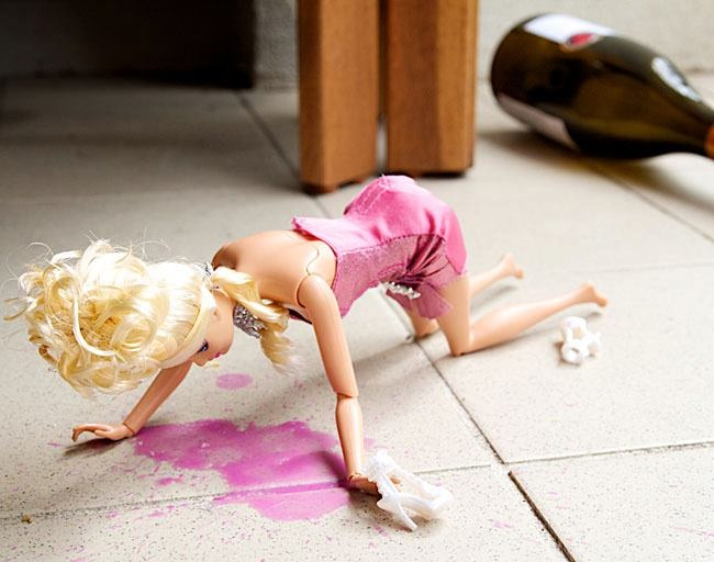 Barbie drunk