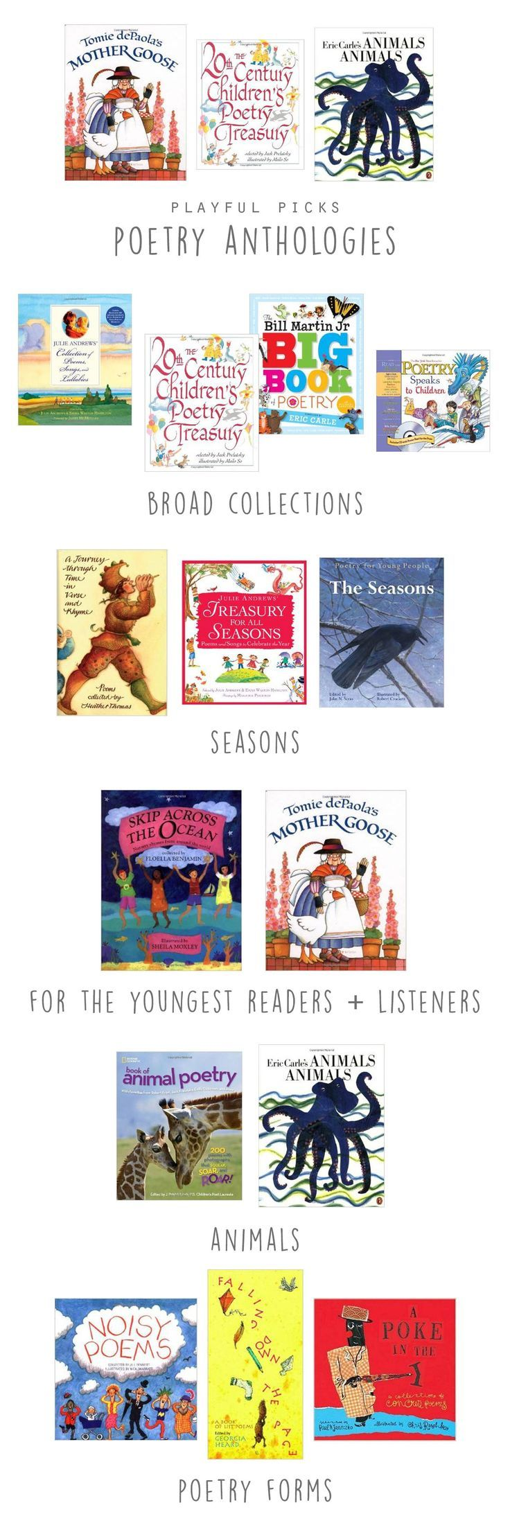Great list of poetry picks for kids!