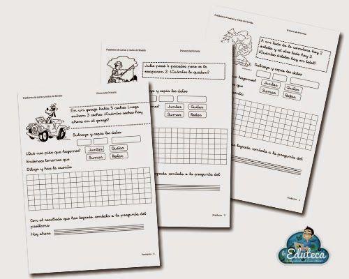 La Eduteca: RECURSOS PRIMARIA   Cuaderno de problemas de sumar y restar (1º de Primaria)