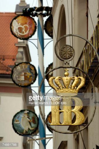 Sign of the Hofbraeuhaus, Munich, Bavaria, Germany