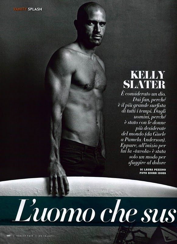 Kelly Slater featured in Vanity Fair Italia.