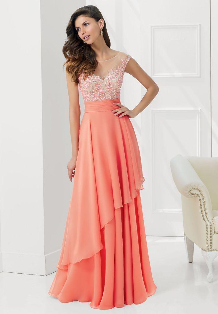Promoción de Vestido De Gasa De Seda De Coral - Compra Vestido De ...