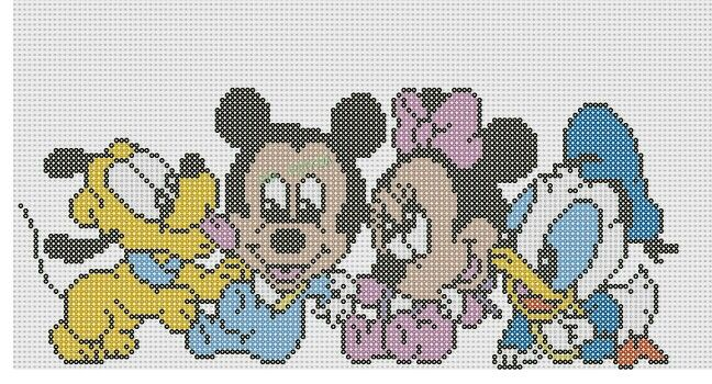 Pluto, Mickey Mouse, Minnie og Anders And babyer