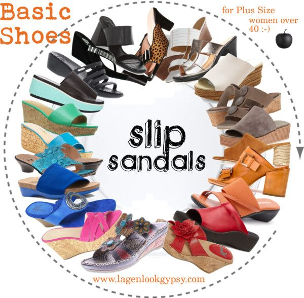 Basic Shoes for Plus Sizes over 40 - Slip Sandals