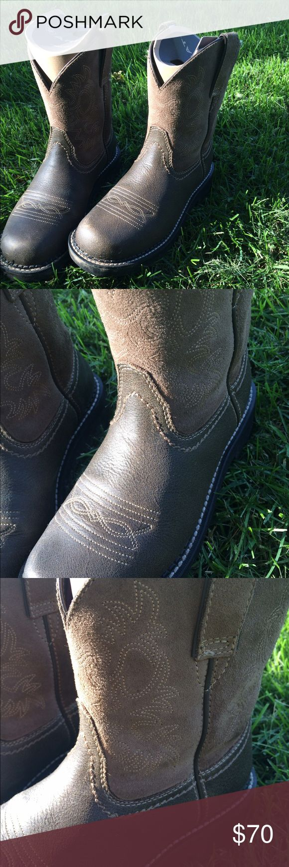 Ariat Fatbaby Cowboy Boots The perfect boots for work on the farm, or a concert that drags on for hours. Soles are in perfect shape, and leather has been previously treated. These boots will last you for years of wear. Ariat Shoes Ankle Boots & Booties
