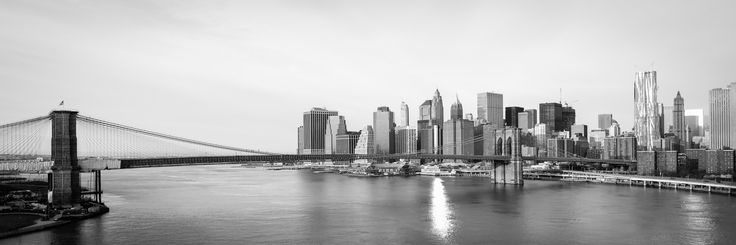 Take that bridge to lower Manhattan and transform your life! Embrace all the City has to offer.  $99, Elementem Photography, 2 sizes available 20x60 inches or 24x72 inches, B&W, black and white, cityscape, NY, New York, New York City, Manhattan, bridge