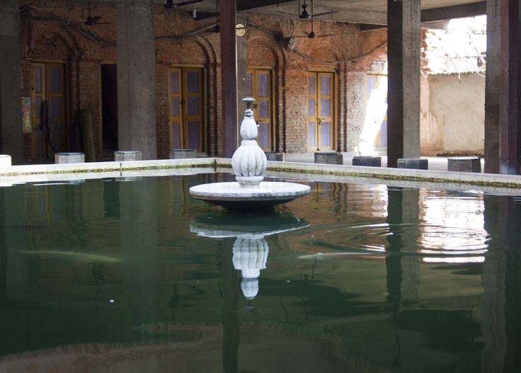 Fountain for Wadu in Haji Jamaluddin Mosque in Kolkata, India