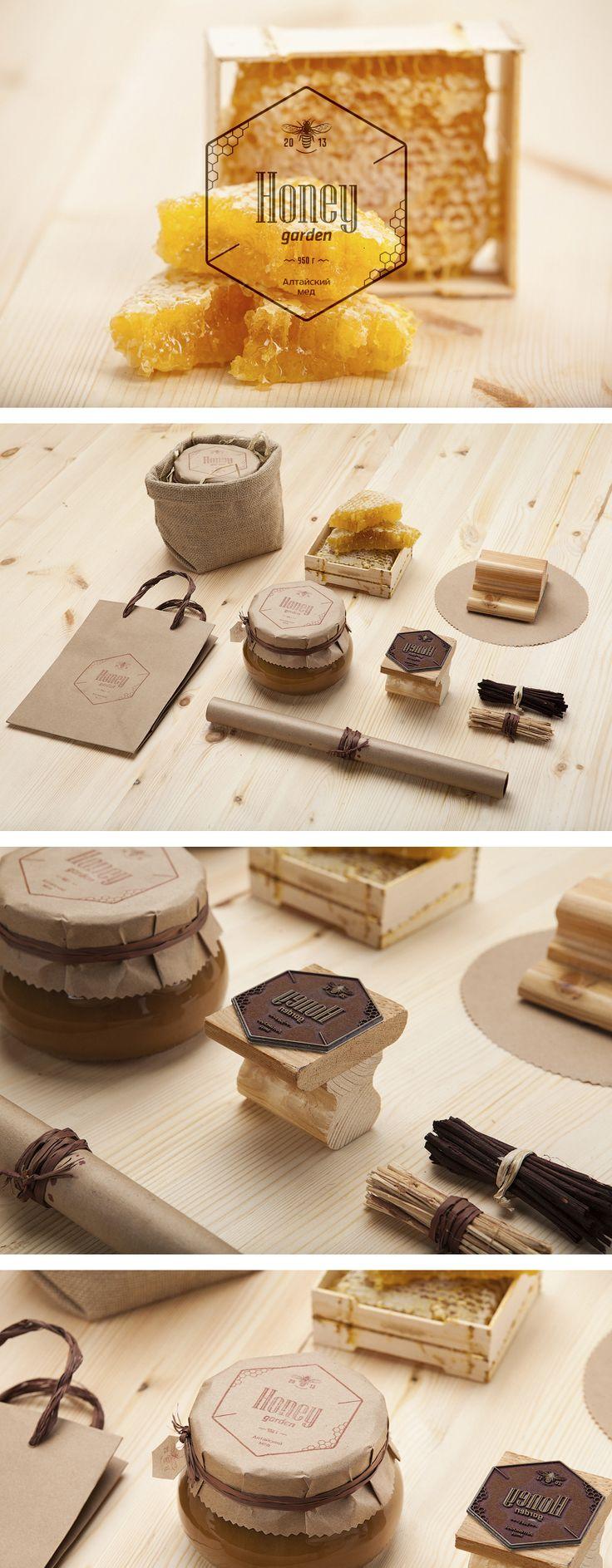 Упаковка для алтайского мёда Honey Garden — проект студии Arthography