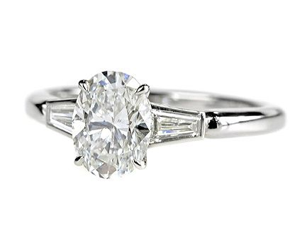 Platinum Diamond oval 1.21ct F VS1 GIA with tapers on shoulder  £10950  http://www.luciecampbell.com/engagement-rings/All-Categories/All-Cuts/1047---7/  richard@luciecampbell.com  Lucie Campbell Jewellers Bond Street London  http://www.luciecampbell.com