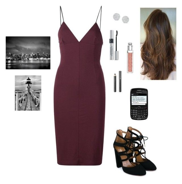 """""""Anastasia Steele - Jose's Photography Show & in the Restaurant"""" by ohmyfifty on Polyvore featuring T By Alexander Wang, Aquazzura, Christian Dior, Anne Sisteron, Burberry and Trademark Fine Art"""