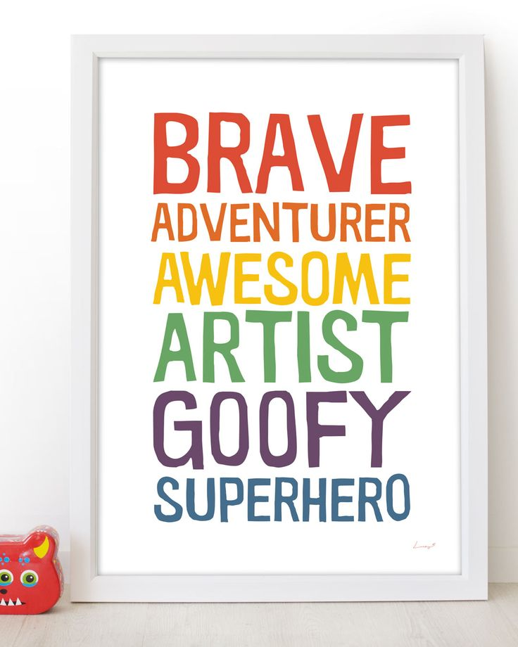 Personalise a print for your sweet kids from the 'Who Are You' range by Lucky 5 | prints and posters for the whole family