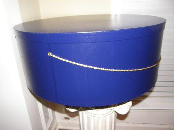Extra Large 24 Inch Hat Box In Royal Blue Perfect For You