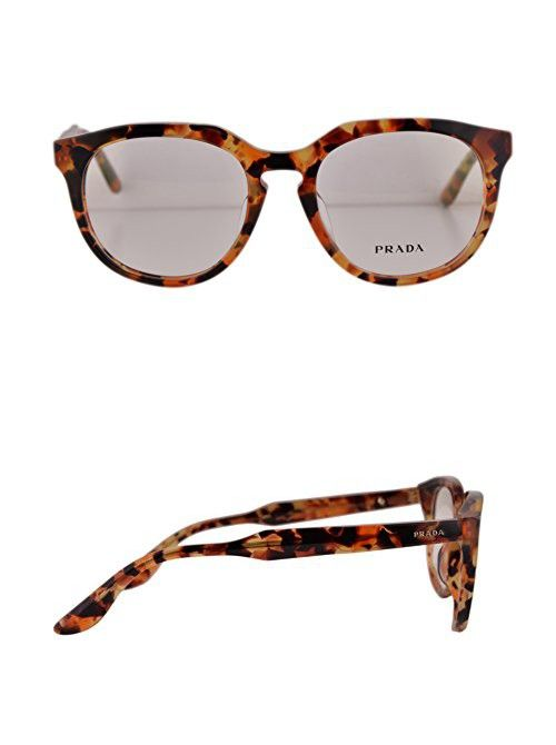 f1aff0fc7fa0 Prada PR13SVF Eyeglasses 50-18-140 Brown Havana Orange UBM1O1 VPR13SF For  Women (