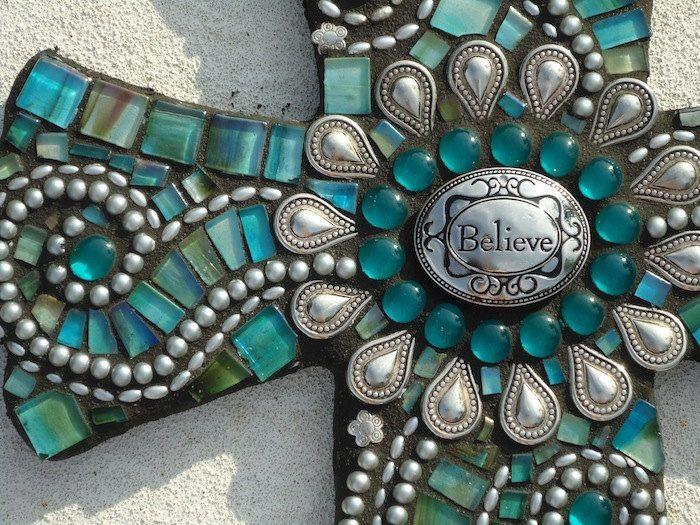 "This is gorgeous - ""Believe"" - Mosaic Cross. $295.00, via Etsy -BrokenBeautyMosaics"