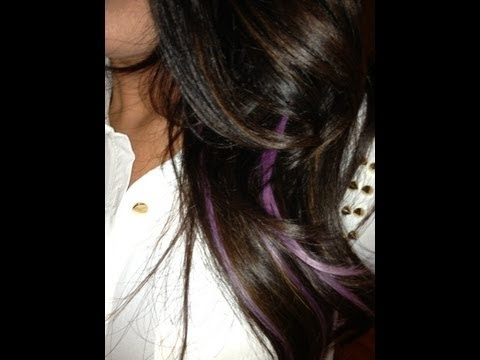 How to: Lavender Highlights without dying your hair...I want some so bad!